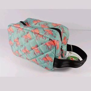 Handbags - NAUTICAL FLAMINGO BIRD TRAVEL COSMETICS BAG